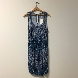 NWT Blue and White Printed Lucky Jean Dress
